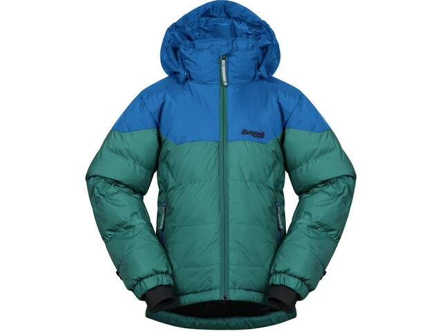 Bergans Ruffen Down Jacket Kids greenlake/strong blue/navy